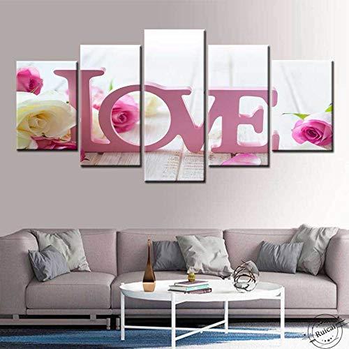 Lienzo nórdico, moderno, de alta definición, sala de estar, decoración del hogar, impresión, 5 paneles, molino de viento holandés, pintura de paisaje, póster, arte de pared 150cm x 80cm sin marco