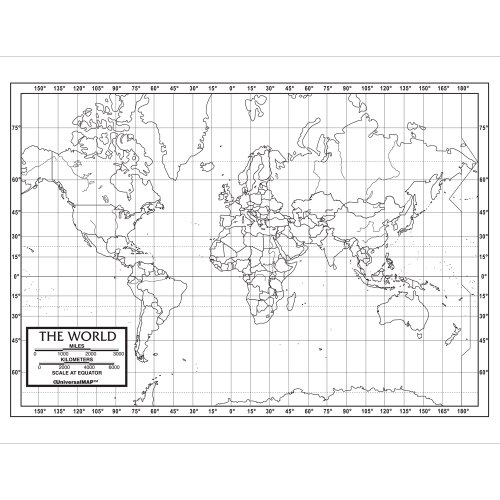 World Outline Map Pack