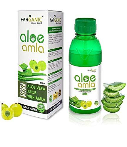 Farganic Pure Amla + Aloe Vera 50:50 Drinking Gel Juice – 500Ml (No Water Added)
