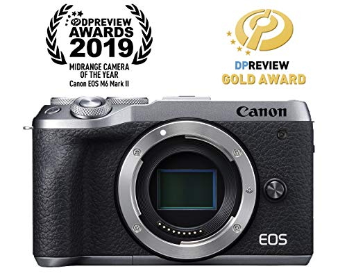 Canon EOS M6 Mark II Mirrorless Camera, Body (Silver)