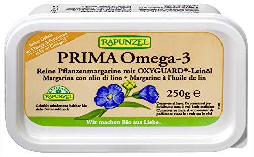 Rapunzel Bio Pflanzenmargarine Prima Omega-3 mit Leinöl (6 x 250 gr)