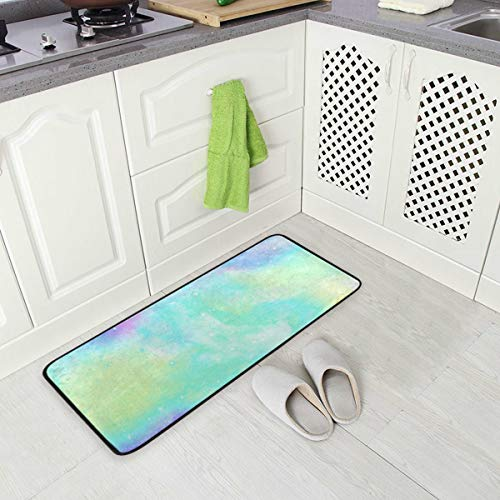 Kitchen Rug Mat Unicorn Marble Standing Anti Fatigue Comfort Flooring Door Mat Oil Proof Floor Mat and Easy to Clean