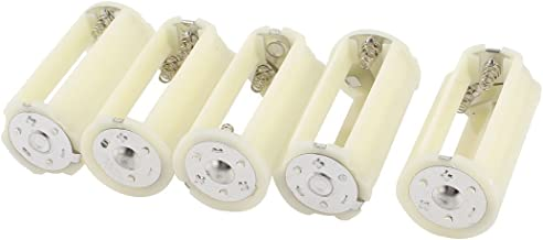 BokWin 3 x1.5V AAA Plastic Cylinder Battery Storage Holder Case Adapter 2Pcs