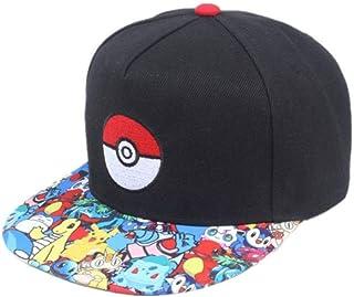 matthe Juventud ni/ños ni/ña Boy Kids Rock Impreso patr/ón Pikachu Pokemon Unisex Mitad Malla Gorra de b/éisbol Ajustable Sombrero Gorra Azul