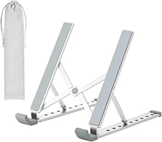 Laptop Stand - Adjustable Laptop Tablet Stand, Foldable Aluminum Desktop Laptop Riser Compatible with All Laptops iPad Tab...