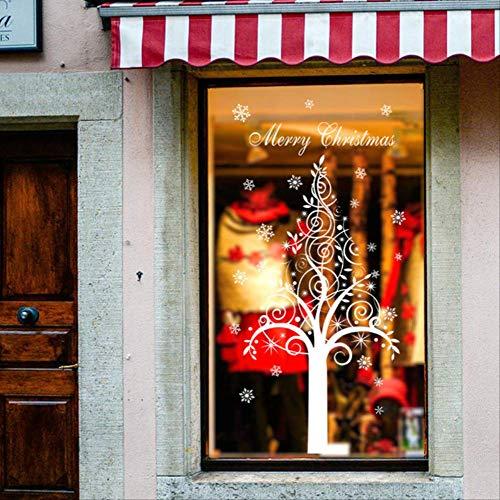Autocollant Mural Fenêtre En Verre Pvc Joyeux Noël Diy Neige Ville Maison Décalque De Noël Décoration Pour La Maison Supplie