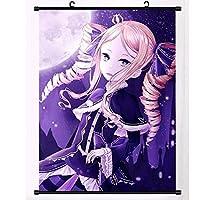 アニメの壁のスクロール壁画ポスターアート布掛けポスター家の装飾コレクション画像アートワークRe:ゼロからの異なる世界での生活 50x75cm