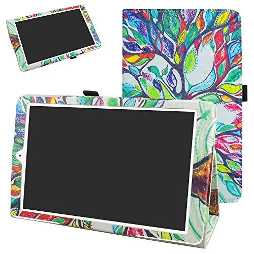 MAMA MOUTH Alcatel Onetouch PIXI 3 (10) Funda, Slim PU Cuero con Soporte Funda Caso Case para 10.1' Alcatel One Touch Pixi3 10 Android Tablet,Love Tree