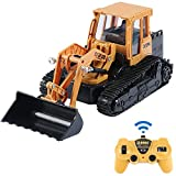 2.4GHz Channel Full Functional Remote Control Front Loader RC Construction Vehicles, Hydraulic RC Excavator Bulldozer Tractor Toy Can Dig up to 3.5 Lbs, Gift for 4, 5, 6, 7, 8 Year Old Boys and Girls