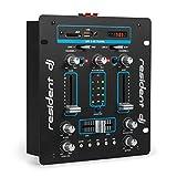 Resident DJ DJ-25 - DJ-Mixer, Mesa de Mezclas, 2 Canales, Compacta, Bluetooth, USB, SD, 2 entradas...