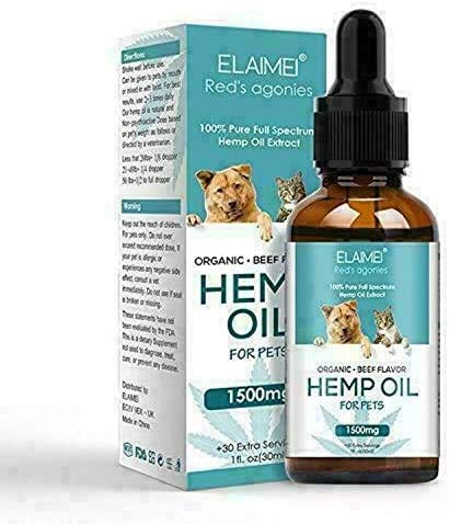 The PawStore 100 % Natural Organic Hemp Oil for Pet Dogs and Cats...