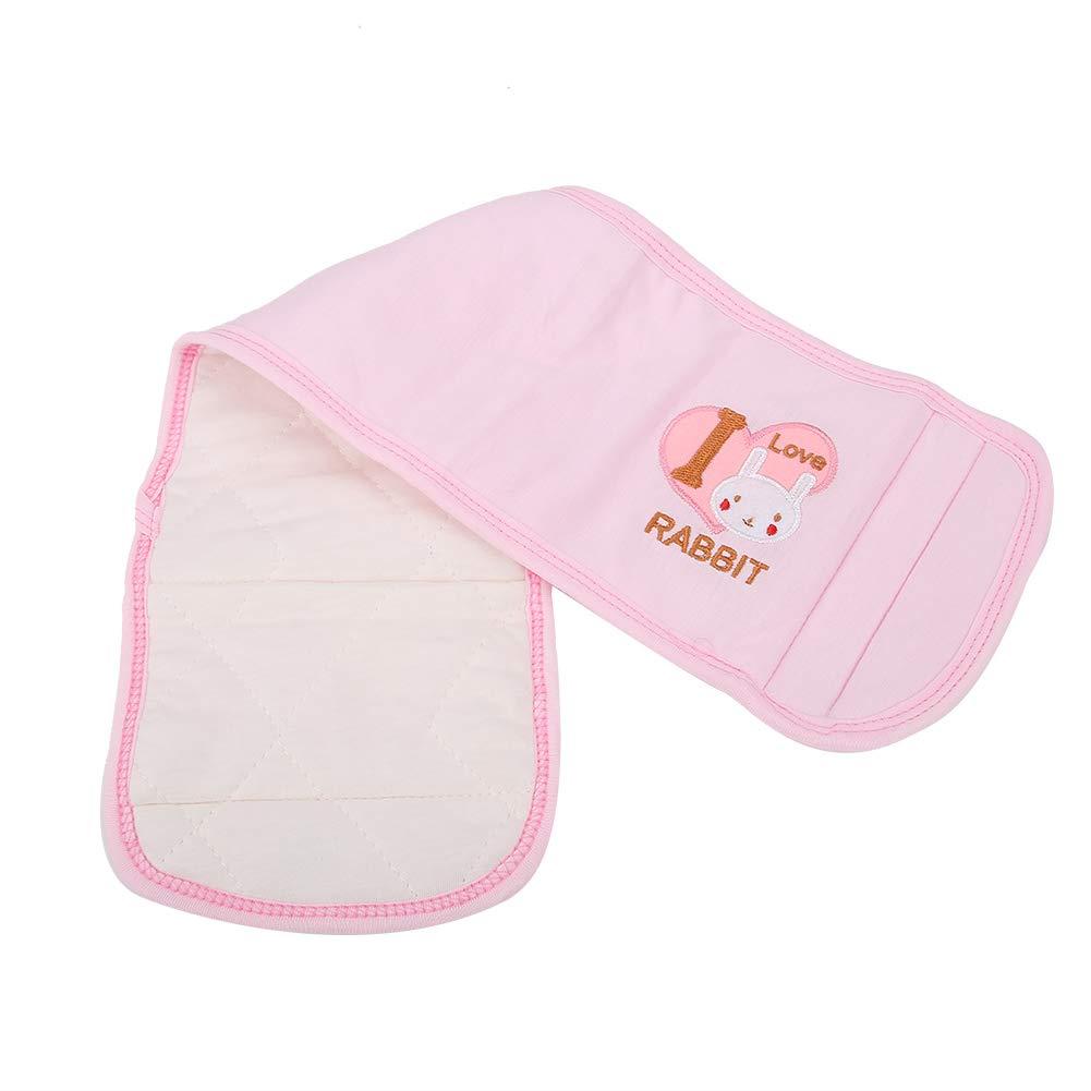 Baby Belly Belt, Newborn Abdomen Keep Warm Button Band Children Waist Support Band for Toddler Boys or Girls, 22inchx6.3inch(Pink)