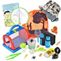 Outdoor Explorer Kit & Bug Catcher Kit with Binoculars, Flashlight, Compass, Magnifying Glass, Critter Case and Butterfly Net Great Toys Kids Gift for Boys & Girls Age 3-12 Year Old Camping Hiking by ESSENSON