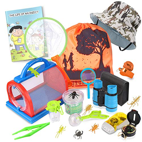 Outdoor Explorer Kit & Bug Catcher Kit with Binoculars,...