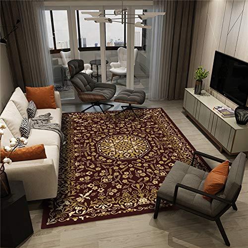Alfombra de área suave, cómoda, alfombra antideslizante, para sofá, sala de estar, dormitorio, S1,80 x 160 cm