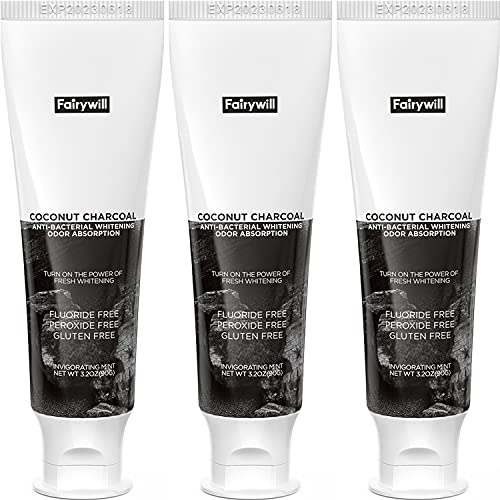 Fairywill Activated Charcoal Toothpaste Teeth...