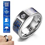 Smart Ring, Fashion Elegant Jewelry Rings Wear Magic NFC Smart Ring Suitable for iOS Android Windows Mobile Phone,13