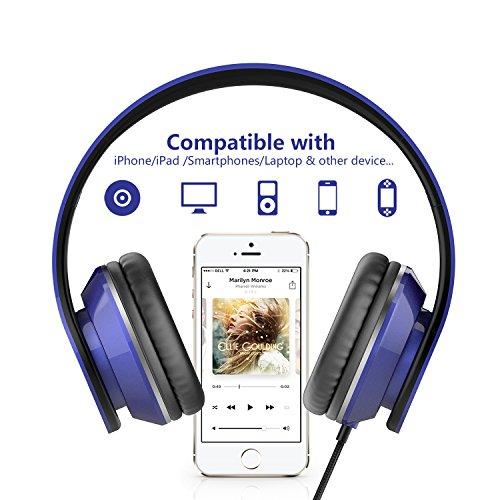 ailihen i60On-Ear-Kopfhörer mit Mikrofon für iPhone iPad Laptop Tablet Android Smartphones.