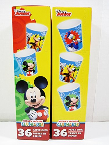 Mickey Mouse Clubhouse 3 oz Paper Bath Cups - 2 Boxes of 36 Cups Each - Disney