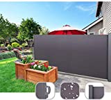 uyoyous 118.11' x 63' Privacy Fence Patio Retractable Folding Side Awning Screen Divider