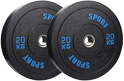 Placas de peso unisex de goma pura olímpica de 50 mm centro para el gimnasio en casa fitness levantamiento de ejercicios