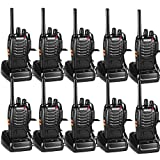 Nestling 10 Pack Walkie Talkie USB Rechargeable Walkie Talkies Long Range Two-Way Radio Walky Talky with...