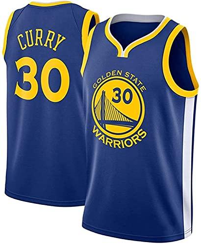 Golden State Warriors # 30 Camiseta de Baloncesto para Hombre de La NBA,Uniforme para Fanáticos del Baloncesto Stephen Curry Camiseta con Chaleco de Tela Transpirable Fresca(Size:/M,Color:G2)