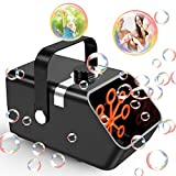 2021 Newest Bubble Machine, Automatic Bubble Blower Portable Bubble Maker for Kids Toddles 5000 Bubbles Per Minute High Output Professional Bubble Machine for Outdoor Indoor Party Birthday Wedding
