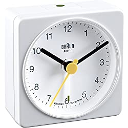 Braun BNC002 Classic Travel Alarm Clock, White