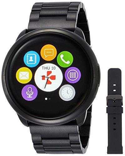 MYKRONOZ Smartwatch Fitnesstracker ZeRound Premium mit Metallarmband, schwarz (KRZEROUND-PREM-MET-BLACK)