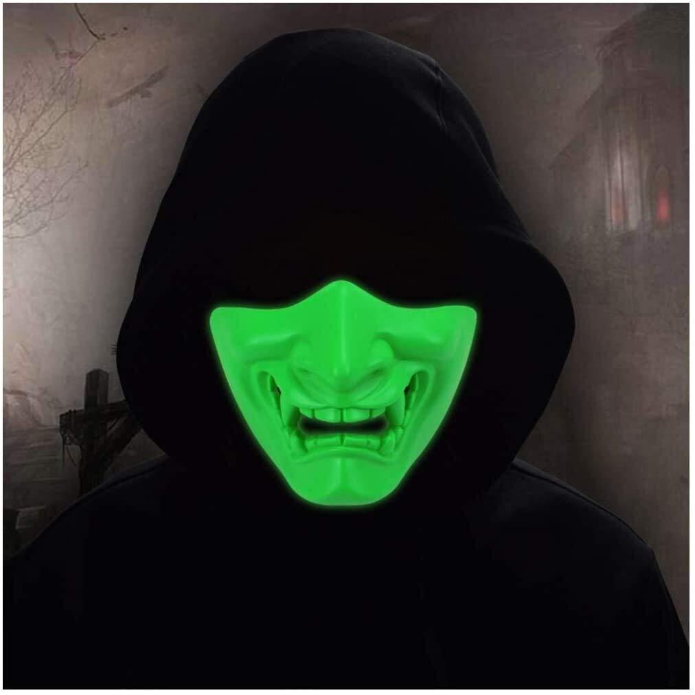 mart Halloween Fluorescent Mask Role-playing Hood Adjustable supreme Game T