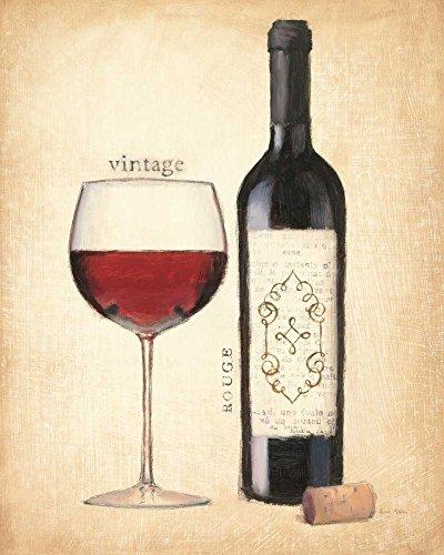 Feeling at home ESTRILLADO-LONEA-Vintage-Rouge-Adams-Emily-Cocina-Fine-Art-impresión-enmarcado-en-madera-bars-cm_24x20_in