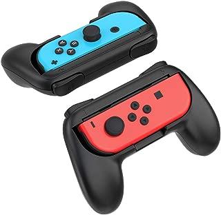 ジョイコンハンドル Nintendo Switch 対応 ハンドル Joy-Con 持ちやすい グリップ 2個 任天堂 スイッチ マリオメーカー マリオカート スマブラ ハンドル YOSH® ブラック