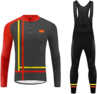comprar comparacion Uglyfrog Ciclismo Maillot Hombres Invierno Fleece Warm Jersey +Culotte Pantalones Largos Mangas Largas Bodies Ciclismo Rop...
