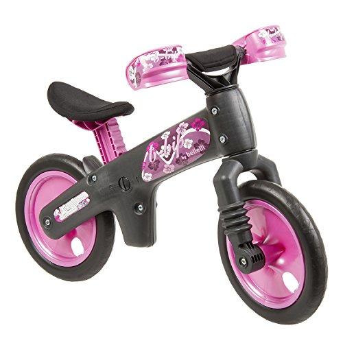 Bellelli B-Bip, Bicicletta Pedagogica senza Pedali Bambino, Antracite/Fucsia, da 2 a 5 anni