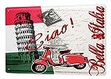 LEotiE SINCE 2004 Cartel Letrero de Chapa Deco Ciudad Pisa Italia