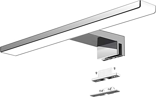 Aogled Led Lampe Miroir Salle De Bain 40 Cm 10W 820lm 230V Blanc Froid 6000K,Ip44 Classe II Slim Bain Miroir Lampe,Pi...