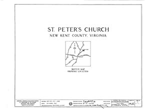 Historic Pictoric Blueprint Diagram HABS VA,64-TUN.V,4- (Sheet 0 of 9) - St. Peter's Church, State Route 642, Tunstall, New Kent County, VA 44in x 32in