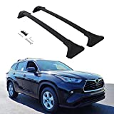 etesan 2 Pieces Cross Bars for 2020 2021 Toyota Highlander L & LE Black Baggage Luggage Roof Rack Crossbars (Models Without Factory Roof Rails)
