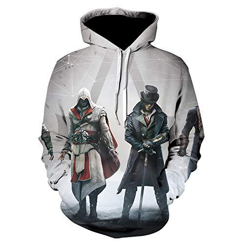 Assassins Creed Streetwear Sudaderas con Capucha con Estampado 3D Ropa para Hombre Sudadera De Juego Sudadera con Capucha De Manga Larga Hip Hop para Hombre-We-964_Size_M