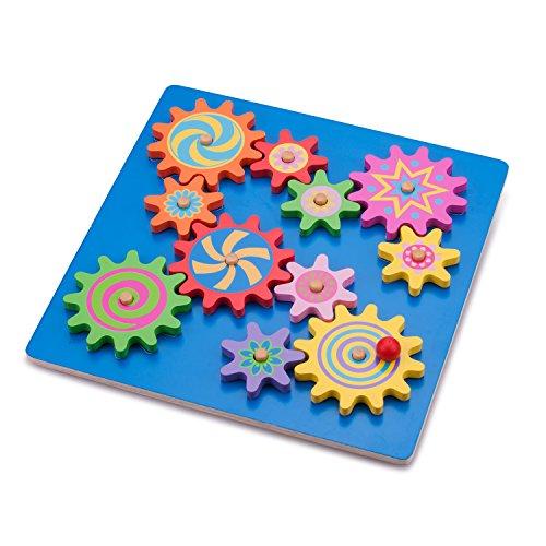 New Classic Toys Puzzle Rotatif à Engrenages Jeu Éducatif pour Enfants