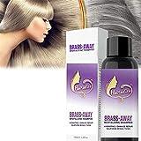 Brass-Corrector Violet Shampoo, sin champú amarillo, 100ml Violet Crush Tone Correcting Purple Shampoo, elimina los tonos amarillos y cobrizos para cabello rubio