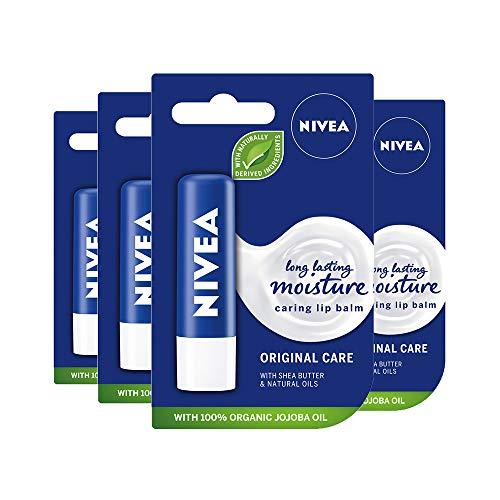 NIVEA Lip Original Pack of 4