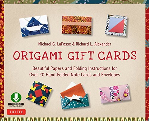 Origami Gift Cards Ebook: Beautiful Papers and Folding Instructions for Over 20 Hand-folded Note Cards and Envelopes (English Edition)