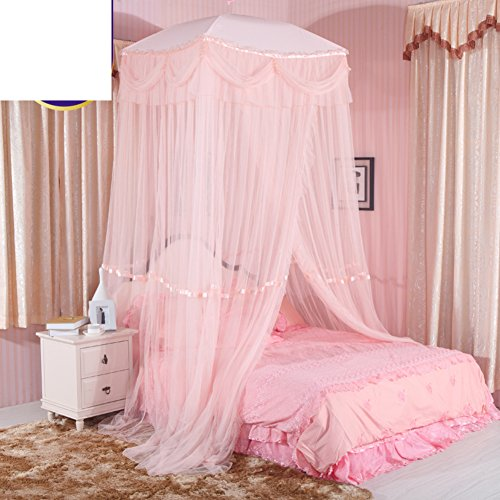 Best Price SIOFSVDFDFASDD Round fly screen,Ceiling mosquito net Simple double netting curtains Home ...