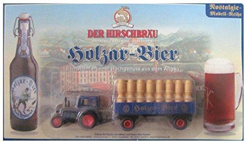 Hirschbräu Nr. - Holzar Bier - Traktor IFA Pionier - Traktor mit Hänger & Holzfässern