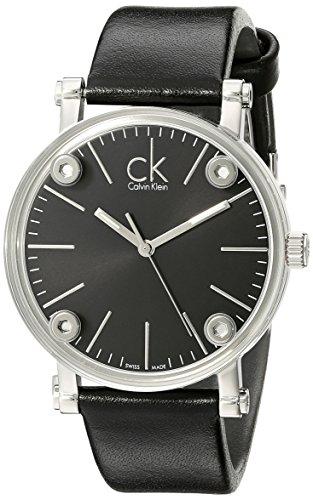 Calvin Klein Damen Analog Quarz Uhr mit Leder Armband K3B231C6