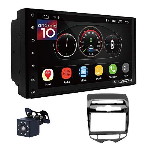 UGAR EX10 7 pollici Android 10.0 DSP Navigazione GPS per Autoradio + 11-311 Kit di Montaggio compatibile per Hyundai iX-20 2010+