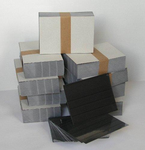 Goldhahn Sonderposten - EINSTECKKARTEN STECKKARTEN mit Folie A6 4 Streifen 1.000 Stück schwarzer Karton Briefmarken für Sammler
