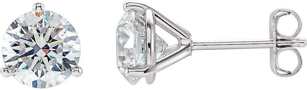 2.0 Cttw Diamond Stud Earrings (Width = 6.5mm)